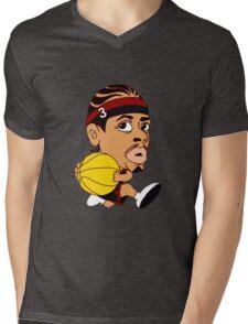 AI Dunk Basketball Mens V-Neck T-Shirt