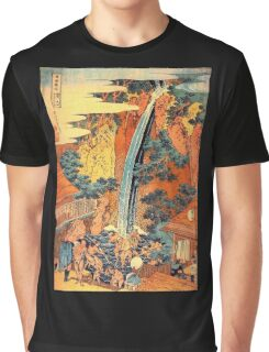 'Waterfalls In All Provinces 2' by Katsushika Hokusai (Reproduction) Graphic T-Shirt