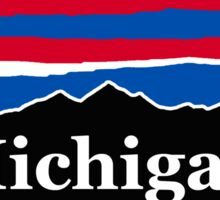 Michigan Red White and Blue Sticker