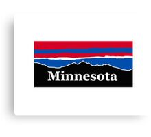 Minnesota Red White and Blue Canvas Print