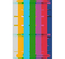 Retro TV Test Card Pattern Interference Photographic Print