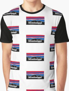 Mississippi Red White and Blue Graphic T-Shirt