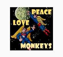 Peace, Love and Monkeys Unisex T-Shirt