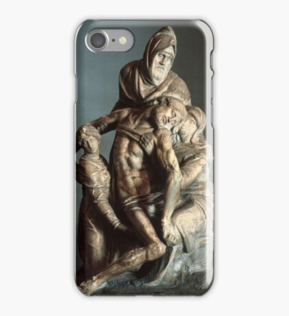 Michelangelo sculpture Cathedral Museum Florence Italy 19840714 0028 iPhone Case/Skin