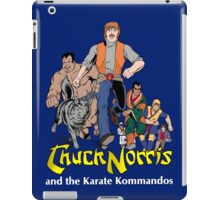 Chuck Norris and the Karate Kommandos - Full Team - White Font iPad Case/Skin
