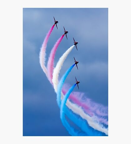 Red Arrows Red White and Blue Photographic Print