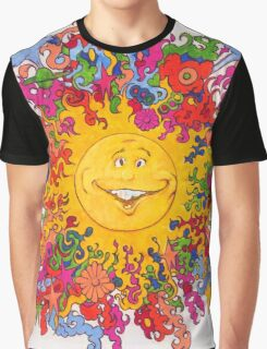 Psychedelic Happy Sun Graphic T-Shirt