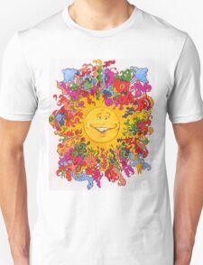 Psychedelic Happy Sun Unisex T-Shirt