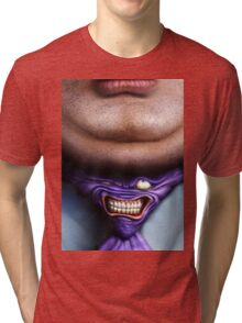 Man Fat and Tie Tri-blend T-Shirt