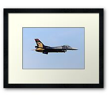 F-16 Side On Framed Print