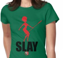 OKAYI GOTIT SLAY Red/Black Womens Fitted T-Shirt