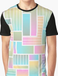 Pastel Colors Abstract Artwork Graphic T-Shirt