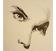 Bowie Eyes Photographic Print