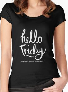 Hello Friday Women's Fitted Scoop T-Shirt