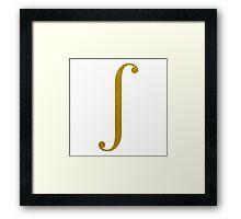 Gold Integral Symbol Framed Print