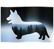 Nature Inspired Corgi  Poster