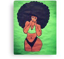 Afro Powerpuff  Canvas Print