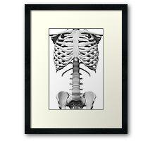 Anatomy white bones skeleton Framed Print