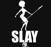 OKAYI GOTIT SLAY White Womens Fitted T-Shirt