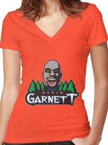 Kevin Garnett Women's Fitted V-Neck T-Shirt