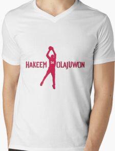 Hakeem Olajuwon Mens V-Neck T-Shirt