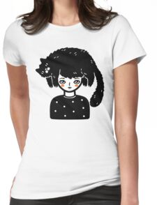 Cat Hair Womens Fitted T-Shirt