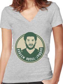 Kareem Abdul-Jabbar Women's Fitted V-Neck T-Shirt