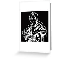 Edward from the Anime/Manga Fullmetal Alchemist White Vector Illustration  Greeting Card