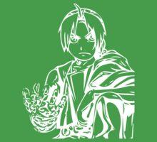 Edward from the Anime/Manga Fullmetal Alchemist White Vector Illustration  Baby Tee