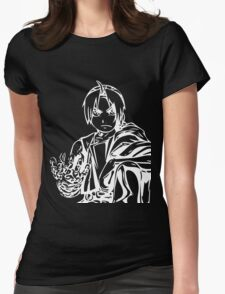 Edward from the Anime/Manga Fullmetal Alchemist White Vector Illustration  Womens Fitted T-Shirt