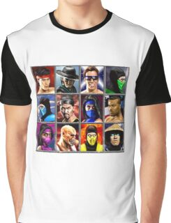 Mortal Kombat 2 Character Select Graphic T-Shirt