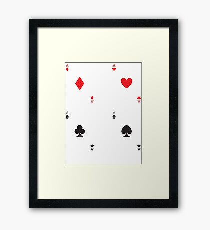 Ace Playing Cards Poker T Shirt Framed Print