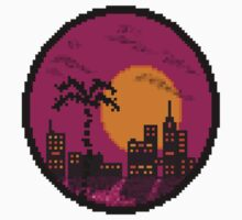 Miami Sunset One Piece - Short Sleeve