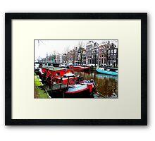 Living colourfully at Amsterdam Framed Print
