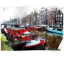 Living colourfully at Amsterdam Poster