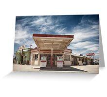 Mojave Desert Gas Station Greeting Card