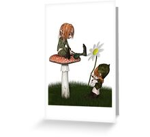 Goblin Valentine's Day Flower Gift Greeting Card
