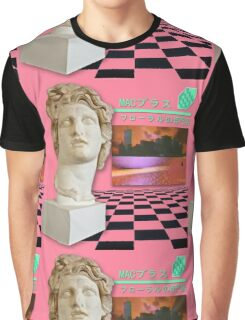 Aesthetic Vaporwave Statue Graphic T-Shirt