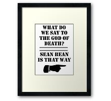 Sean Bean  Framed Print