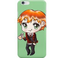 Cute Ron Weasley in a Gryffindor Uniform Holding a Potion (Hand-Drawn Illustration) iPhone Case/Skin
