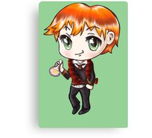 Cute Ron Weasley in a Gryffindor Uniform Holding a Potion (Hand-Drawn Illustration) Canvas Print