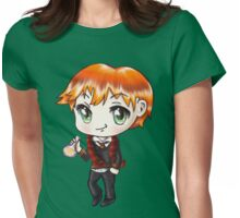 Cute Ron Weasley in a Gryffindor Uniform Holding a Potion (Hand-Drawn Illustration) Womens Fitted T-Shirt
