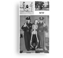 WTF - Threesome penguin bear and cops Metal Print