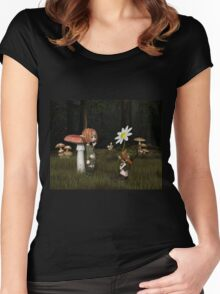 Goblin Valentine's Day in the Forest Women's Fitted Scoop T-Shirt