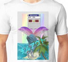 Aesthetic Vaporwave Dolphins Unisex T-Shirt