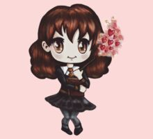 Cute Hermione Granger in Gryffindor Uniform Casting a Love Spell (Hand-Drawn Illustration) Kids Clothes