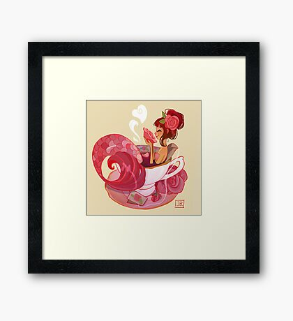 Tea Mermaid Framed Print