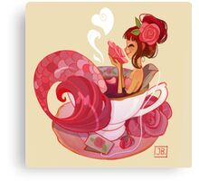 Tea Mermaid Canvas Print