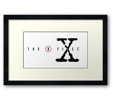 The X Files Logo Framed Print