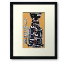 Chicago Blackhawks - 1934 Framed Print